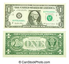 dollar, eins