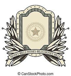 dollar emblem seal isolated icon
