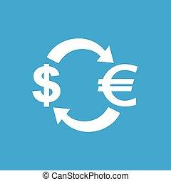 Dollar-euro exchange icon