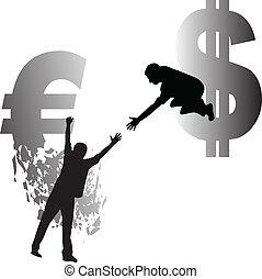 dollar, euro