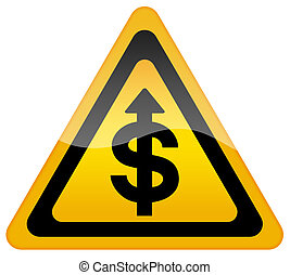 Dollar exchange rate growth sign