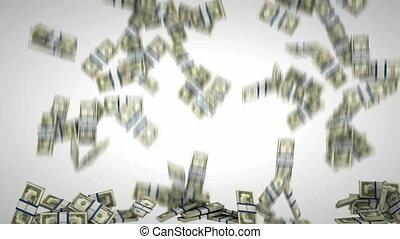 dollar, füllung, uns, rahmen