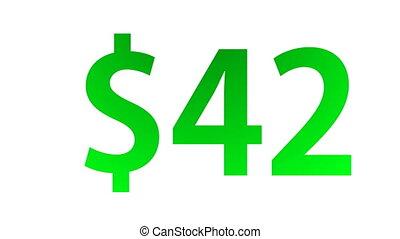 dollar, figures, compteur