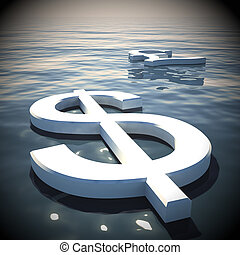 Dollar Floating And Pound Going Away 3d Rendering
