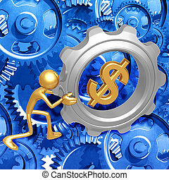 Dollar Gear Push