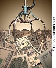 dollar, grabber, boldspil
