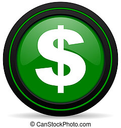 dollar green icon us dollar sign