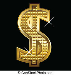 dollar, guld