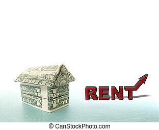 Dollar house rent arrow