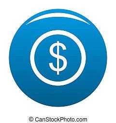 Dollar icon blue