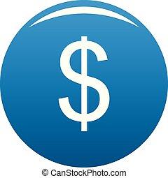 Dollar icon blue vector