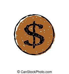 Dollar icon button