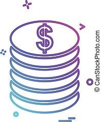 Dollar icon design vector