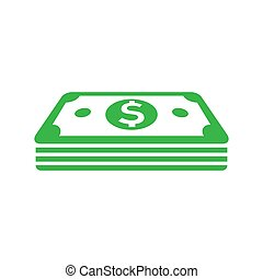 Dollar icon in flat style. Dollar cash vector illustration on white isolated background. bill business concept.