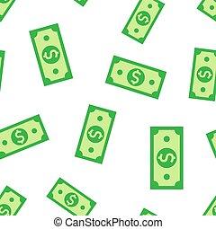 Dollar icon seamless pattern background. Dollar cash vector illustration. bill symbol pattern.