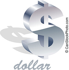 Dollar icon. Usable for different business design.