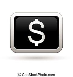 Dollar icon. Vector illustration