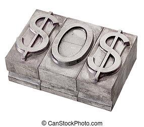 dollar in distress - SOS signal