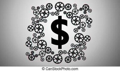 dollar in gears animation