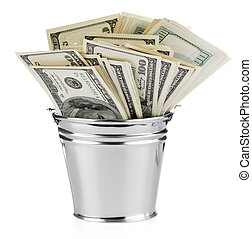 Dollar in pail