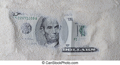 Dollar In The Sand Horizontal.