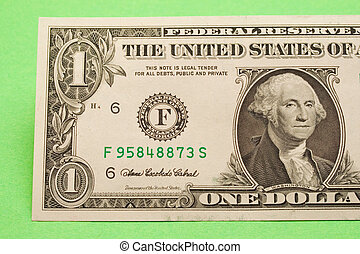 Dollar isolated on green