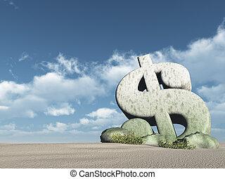 dollar jelkép, -, vakolás, dezertál, 3