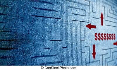 Dollar maze concept