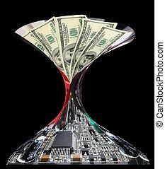Dollar money and electronics. - Dollar money and electronics...