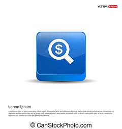 Dollar money icon - 3d Blue Button