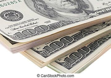 dollar, monnaie, notes