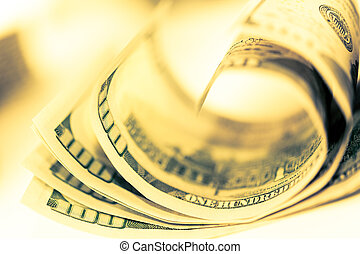 dollar., nahaufnahme, geld- finanzierung, bargeld, ...