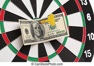 dollar, oeil, taureau