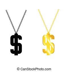 dollar on chain illustration