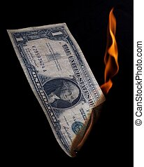 Dollar on fire