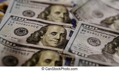 Dollar. One hundred dollar bills