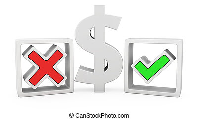 Dollar or not? - The dollar sign and symbols of the positive...