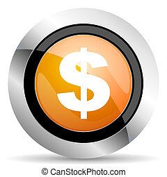 dollar orange icon us dollar sign