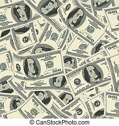 dollar, pattern., seamless