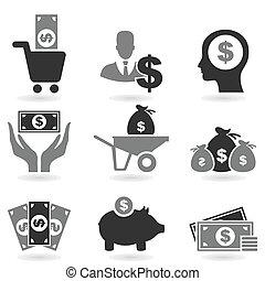 dollar, pictogram