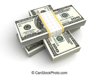 dollar, pile