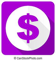 dollar pink flat icon us dollar sign