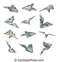 Dollar plane flying