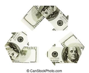 Dollar recycling symbol