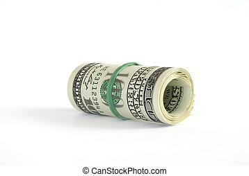 dollar, rouleau