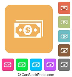 Dollar rounded square flat icons