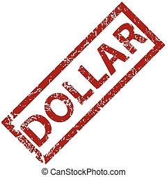Dollar rubber stamp