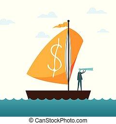 Dollar Sail Boat