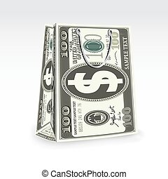 Dollar Shopping Bag