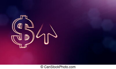 dollar sign and emblem of arrow. Finance background of...